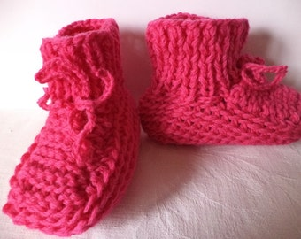 Baby shoes knitted 74/80 wool shoes wool baby
