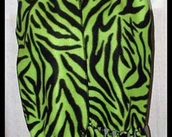 Zebra Fleece Scarf, Wild Animal Muffler, Lolita/Punk/Avant-Garde Club Lime Neck Scarf