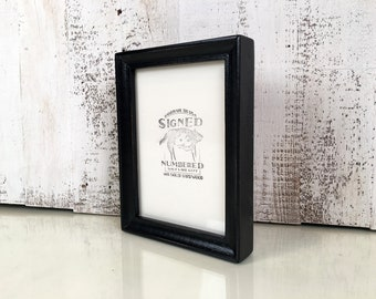 5x7 Picture Frame in Foxy Cove Style with Vintage Black Finish - IN STOCK - Same Day Shipping - 5 x 7 Frame Solid Hardwood Rustic Black