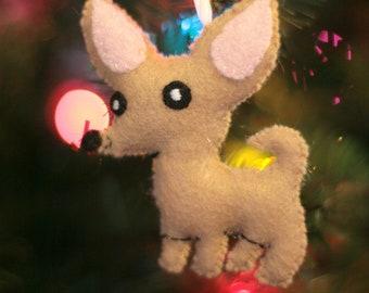 Super Cute Chihuahua Dog Felt Ornament