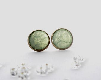 Large cells vertes_PP07 ear studs