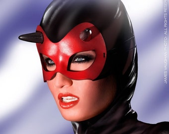 SALE Minx mask in red leather