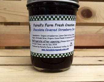 Chocolate Jams- Fairall's Farm -  - Best Valentines Day Gift - Jam preserves - Valentines Food Gift - Gifts under 10