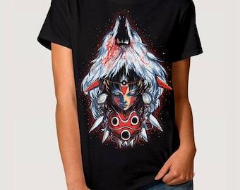 Princess Mononoke Art T-Shirt, Studio Ghibli Tee, Men's Women's All Sizes