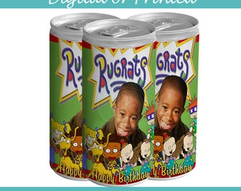 Rugrats Soda Can label- digital- you print - Party Favors