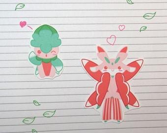 Chibi Fomantis/Lurantis Stickers and Magnets