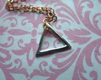Shop Sale.. 1 2 5 10 pc, TRIANGLE Charm Pendant, 10 mm, Sterling Silver, SMALL Triangle Outline, geometric geo modern designer art  to.10 to