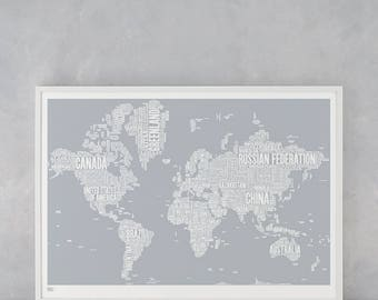 Map world map poster world map art world map print world map world map wall art world map poster world map print world typographic wall gumiabroncs