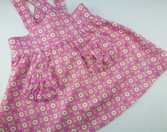 Vintage inspired pink toddler dress, ready to ship, original antique inspired(1954) retro skirt for a 2 - 4 year old girl.