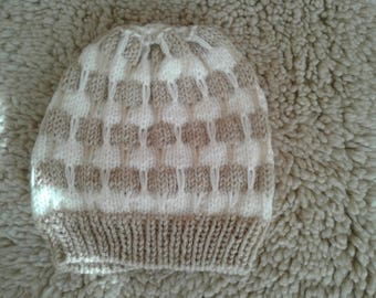 Hand knitted kids hat