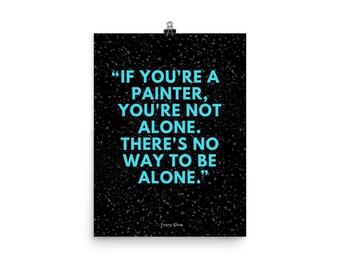 Franz Kline Quote Poster