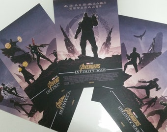 5 Marvel Avengers Infinity War Odeon Exclusive Posters Selling
