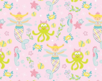 FABRIC MAGICAL MERMAID under the Sea by Marcus 1/2 yard