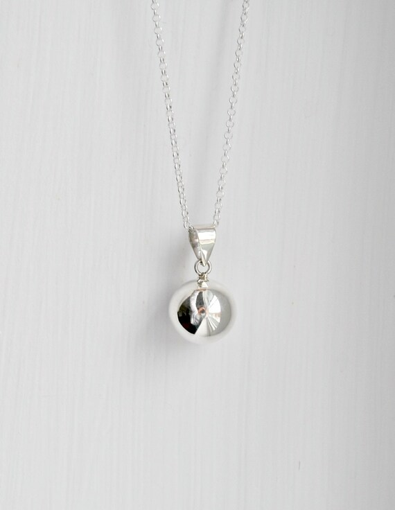 Harmony ball necklace sterling silver harmony ball pendant harmony ball necklace sterling silver harmony ball pendant musical chime plain bola charm pregnancy baby simple angel caller wish aloadofball Gallery