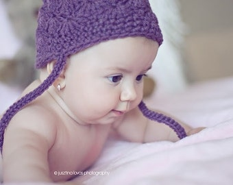Easy Shell Hat crochet pattern pdf 461 infants to adult sizes