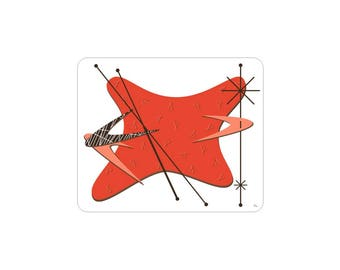 Skewered Mousepad for Home or Office - Avail in Fiesta Red or Olive Martini Green