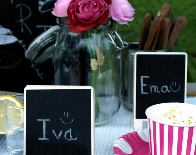 Rustic style chalkboard place sign card table number decor vignette wedding