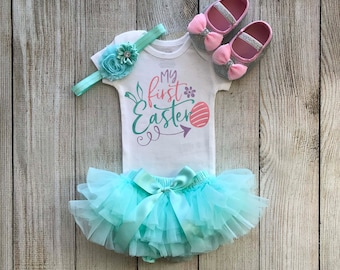 My First Easter Outfit - Baby Girl Easter Outfit With tutu bloomers