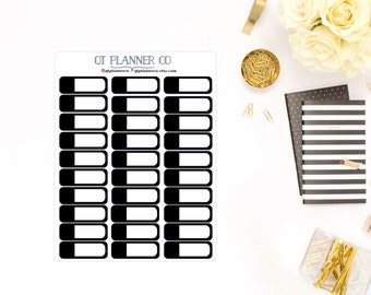 Neutral/Black Appointment/Event Planner Stickers for Vertical Erin Condren Life Planner