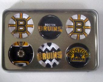 Boston Bruins Fridge Magnets - Boston Bruins Hockey Refrigerator Magnets Set of 6