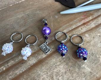 stitch markers, Progress keepers, knitting markers, knitting stitch marker, stitch marker set, ring marker, knitting tool, gift knitter