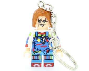 Chucky Childs Play Minifigure Keyring Keychain