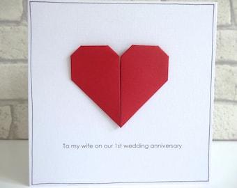 St anniversary card etsy