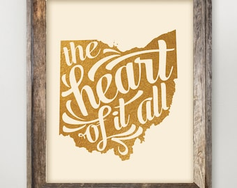 The Heart of it All Ohio State Print 8 x 10