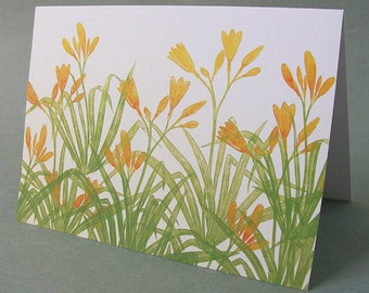 5 x 7 Notecard - A026 TIGER LILIES // Mother's Day card / sympathy card / thinking of you card / thank you card / flower card / tiger lilies