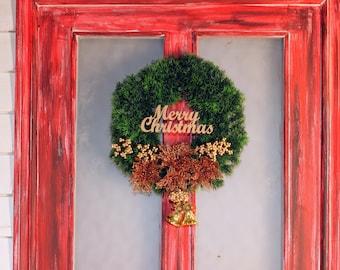 Christmas wreath Christmas door decor front door wreath Christmas door Winter home decor Christmas wreaths house warming gift Wreath door