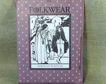 Moroccan Burnoose Folkwear Patterns From The Past  #132 - Vintage Sewing Pattern - Printed in The USA