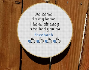 Welcome To My Home Cross Stitch Pattern
