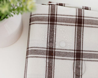 """Laminated Cotton Large Plaid - Brown - By the Yard (43 x 36"""") 37933 - 274"""