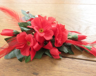 Red Blossom Corsage, Wedding, Prom, Anniversary.