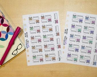 Word Count Tracker Stickers, Typewriter, Word Count Stickers, Planner Stickers, Filofax, Kikki-K, Erin Condren, Happy Planner, UK