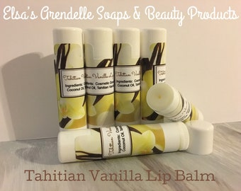 Tahitian Vanilla Flavored Lip Balm-Set of 3