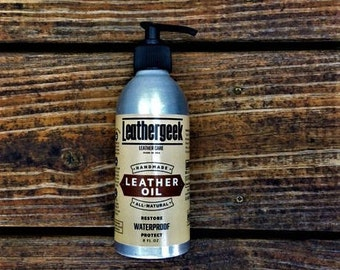 LeatherGeek™ Leather Oil | Restores Dry Leather and Protects | Leather Care All Natural | Handmade in the USA