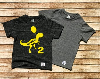 Children's Tri-Blend T-Shirt Birthday Boy Dinosaur T Shirt - Dino Birthday - Birthday Shirt - T Rex Birthday Custom Dino - Birthday Boy