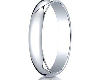 4mm Platinum Wedding band, Platinum Wedding Ring, Platinum Ring, Thin platinum band, Traditional wedding band, Platinum wedding band 4mm