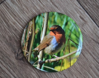 Robin, Bird 56mm Photographic Compact Pocket Mirror