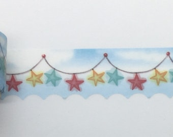 SCALLOPED Star String Washi - 20mm X  3m