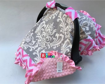 35% off Car seat canopy cover contton baby car seat over the top cover, baby carseat cover, fit all the infant baby car seat