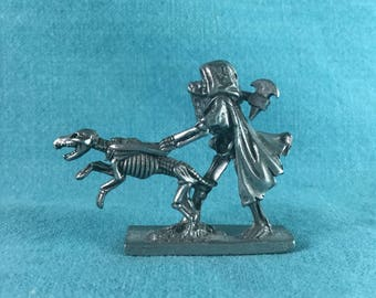 1990s Pewter Wizard Sculpture Figurine