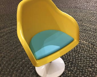 American girl retired Julie yellow mod plastic chair