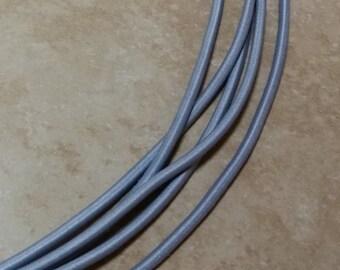 2mm Nylon Light Grey Non-Binding Elastic Cord Varying Lengths 1 Yard - 10 Yards