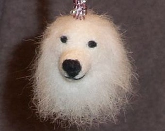 Needle Felted  Great Pyrenees - Pyrenean Mountain Dogs - Ornament