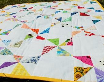 Cot Quilt / Play Mat / Baby Quilt / Patchwork Quilt