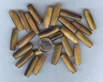 """NEW 1"""" AA Quality Burnt Horn Hairpipe Beads 25pcs"""