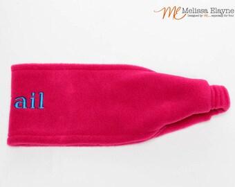 Personalized Fleece Ear Warmer Headband -Hot Pink