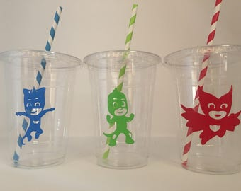 PJ Mask Birthday Party Cups, Pjmask party, Pj mask party cups, PJ mask Party cups